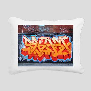 Ganja Graffiti Rectangular Canvas Pillow