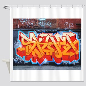 Ganja Graffiti Shower Curtain