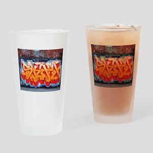Ganja Graffiti Drinking Glass