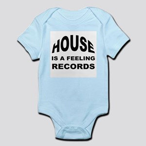 House Is A Feeling Records Logo Black Body Suit