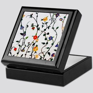 CUTE FLORAL AND VINE ALL OVER PATTERN Keepsake Box