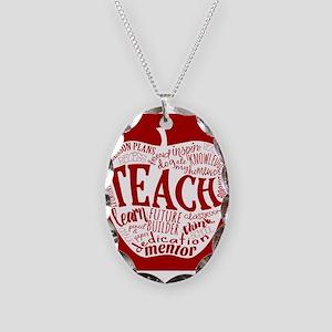 Teacher Necklace Oval Charm