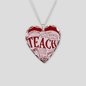 Teacher Necklace Heart Charm