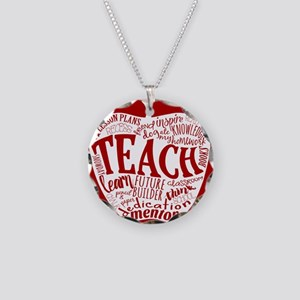 Teacher Necklace Circle Charm