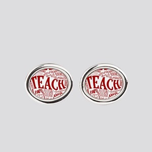 Teacher Oval Cufflinks