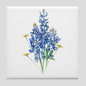 Bluebonnets Tile Coaster