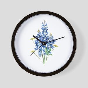 Bluebonnets Wall Clock