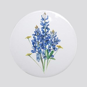 Bluebonnets Round Ornament