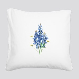 Bluebonnets Square Canvas Pillow