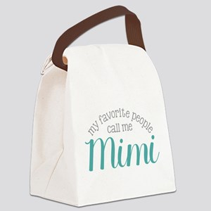 My Favorite People Call Me Mimi Canvas Lunch Bag