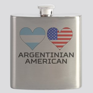 Argentinian American Hearts Flask