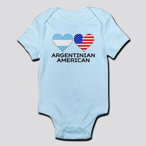 Argentinian American Hearts Body Suit
