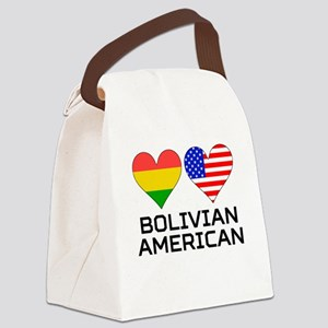 Bolivian American Hearts Canvas Lunch Bag