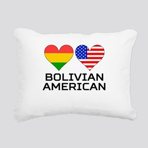 Bolivian American Hearts Rectangular Canvas Pillow