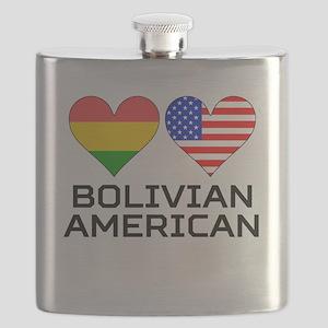 Bolivian American Hearts Flask