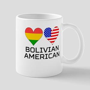 Bolivian American Hearts Mugs