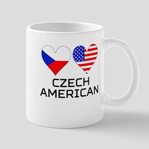 Czech American Hearts Mugs