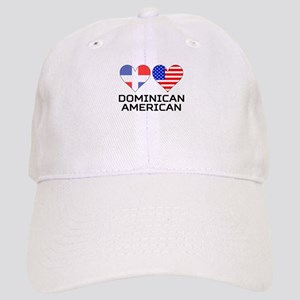 Dominican American Hearts Baseball Cap