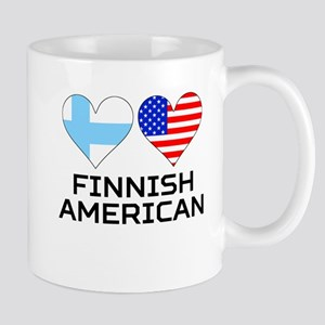 Finnish American Hearts Mugs