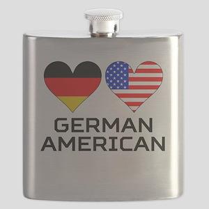 German American Hearts Flask