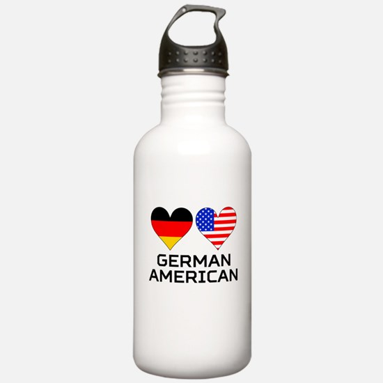 German American Hearts Water Bottle