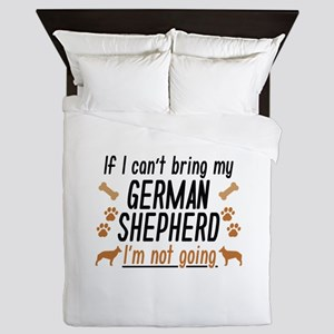German Shepherd Queen Duvet