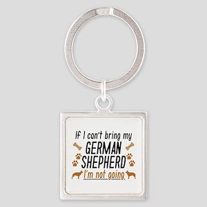 German Shepherd Square Keychain