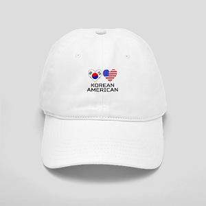 Korean American Hearts Baseball Cap