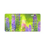 Lupines Aluminum License Plate
