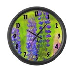 Lupines Large Wall Clock