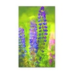 Lupines Rectangle Car Magnet