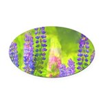 Lupines Oval Car Magnet