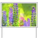 Lupines Yard Sign