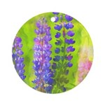 Lupines Round Ornament