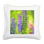 Lupines Square Canvas Pillow