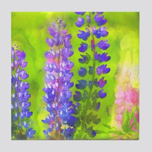 Lupines Tile Coaster