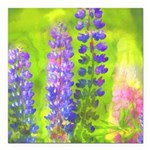 Lupines Square Car Magnet 3