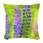 Lupines Woven Throw Pillow