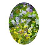 Maine Impasto WIldflowers Oval Ornament