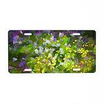 Maine Impasto WIldflowers Aluminum License Plate