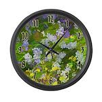 Maine Impasto WIldflowers Large Wall Clock