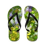 Maine Impasto WIldflowers Flip Flops