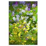 Maine Impasto WIldflowers Large Poster