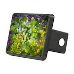 Maine Impasto WIldflowers Rectangular Hitch Cover