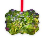 Maine Impasto WIldflowers Picture Ornament