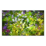 Maine Impasto WIldflower Sticker (Rectangle 50 pk)