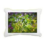 Maine Impasto WIldflower Rectangular Canvas Pillow