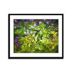 Maine Impasto WIldflowers Framed Panel Print