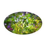 Maine Impasto WIldflowers Oval Car Magnet