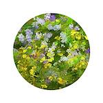Maine Impasto WIldflowers Button